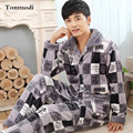 New Luxurious Men Pajamas Winter Thickening Flannel Men Pyjamas Warm Sleepwear Lounge Pajama Sets 4XL Mens Pajamas
