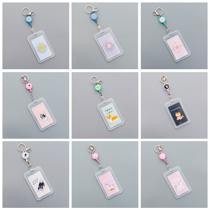 ID Badge Holder With Lanyard Cute Card Holder For Women Men Work Student ID Card