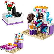 10153 BELA Friends Andrea's Bedroom Building Blocks Toys For Children Compatible Legoe Friends For Girl bela 10562 friends series heartlake riding club model building block bricks toy for children compatible with legoe friends 41126