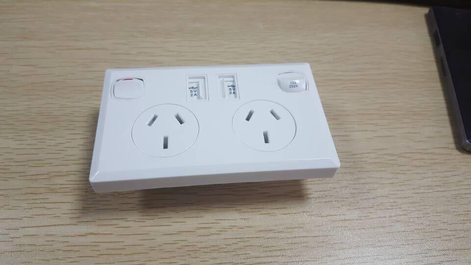 Australian Australia AU SAA standard dual USB power point and ...