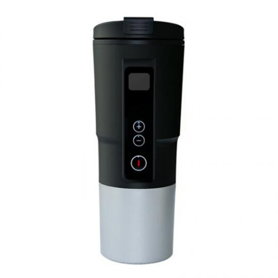 12V Stainless Steel Heated Drink Boiling Mug Coffee Tea Water Cup Electric Kettle Smart Drinking Glass Water Cups- 6 colors 400ml self stirring mug automatic electric blenders stainless steel coffee makers milk tea milk mixing drinking cups