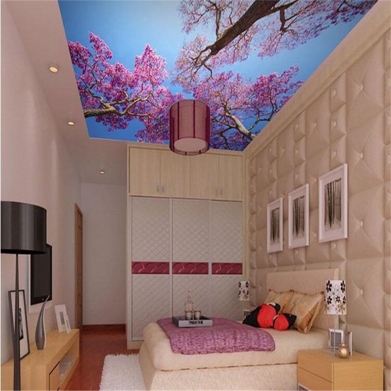 Custom Wallpaper 3D Mural Painting Mediterranean Blue Sky Ceiling Mural  Bedroom Living Room Wallpaper Romantic Cherry KTV Bar In Wallpapers From  Home ...