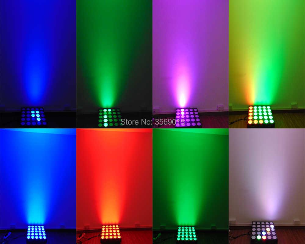 5x5 RGB led lights 25x10w sound auto dot matrix for wedding disco