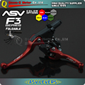 Red aluminium ASV F3 Series 2ND Clutch & Brake Folding Lever refit accesories moto supermoto enduro XR CR CRF CRM XRF TTR