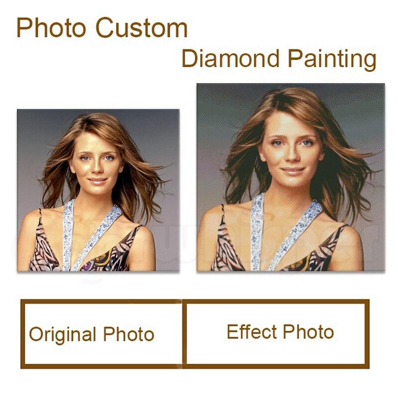 Diamante cuadrado/redondo 5D Daimond pintura encargo personalización Personal Cruz puntada mosaico 069XP