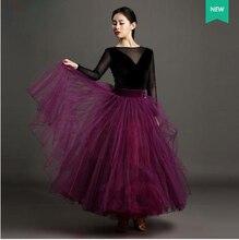 New styles ballroom dance costumes gauze long sleeves top long skirt 2pcs ballroom dance set for