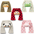 2013 new fashion RETAIL cotton 100% children's wear leggings baby cotton PP pants big boy girl cartoon infant legging trousers