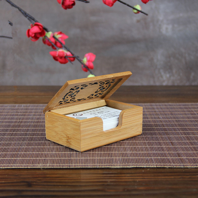 Aliexpress buy bamboo vintage business card box elegant patch bamboo vintage business card box elegant patch storage display box office origanizer carved cover eco friendly colourmoves Images