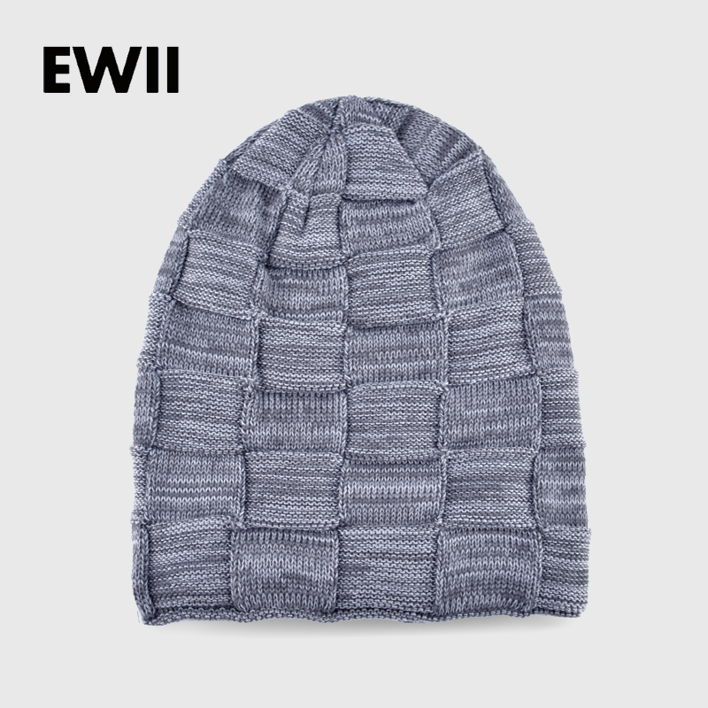 2017 Boy winter knitted hat beanies hats for men beanie wool cap skullies men casual warm plaid bonnet caps bone gorro masculino new winter beanies solid color hat unisex warm grid outdoor beanie knitted cap hats knitted gorro caps for men women
