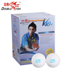 Genuine 100balls DOUBLE FISH Volant V40+ No Star Table Tennis Balls ABS polymer Ping pong Ball Approve by ITTF Ball