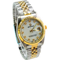 Watch Quartz Gold Single Calendar Men S Steel Watch Gift Table 157689