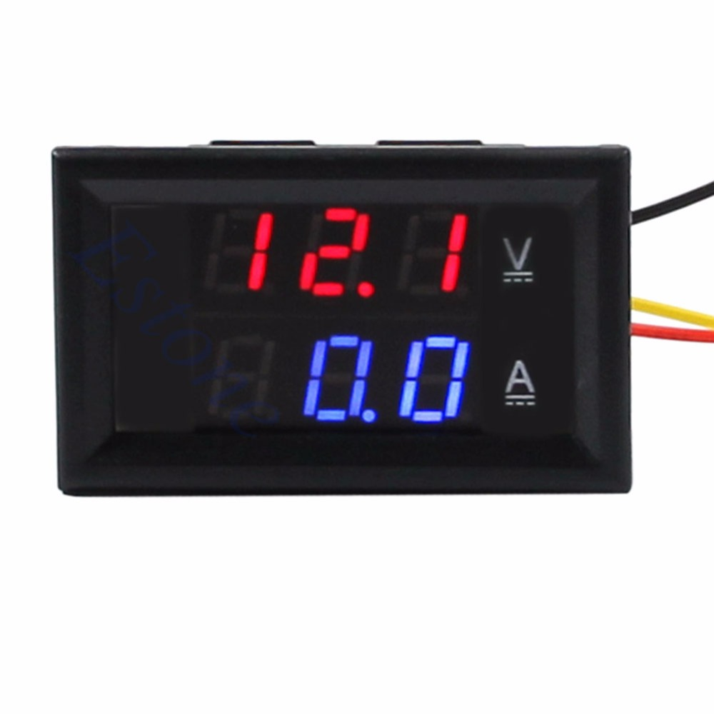 DC 4.5-30V 0-50A Dual LED Digital Volt Meter Ammeter Voltage AMP Power New 2017