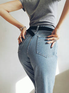 Denim Jeans Waisted Retro Women New The And with Haren Pants Zhou Dongyu Europe
