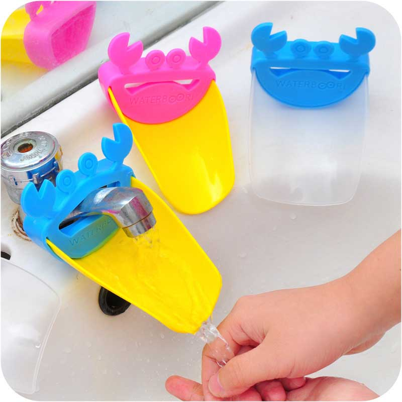 Cute Faucet Extender Toddlers Kids Babies Sink Handle Extenders for Home Bathroom Accessory Supply FJ88