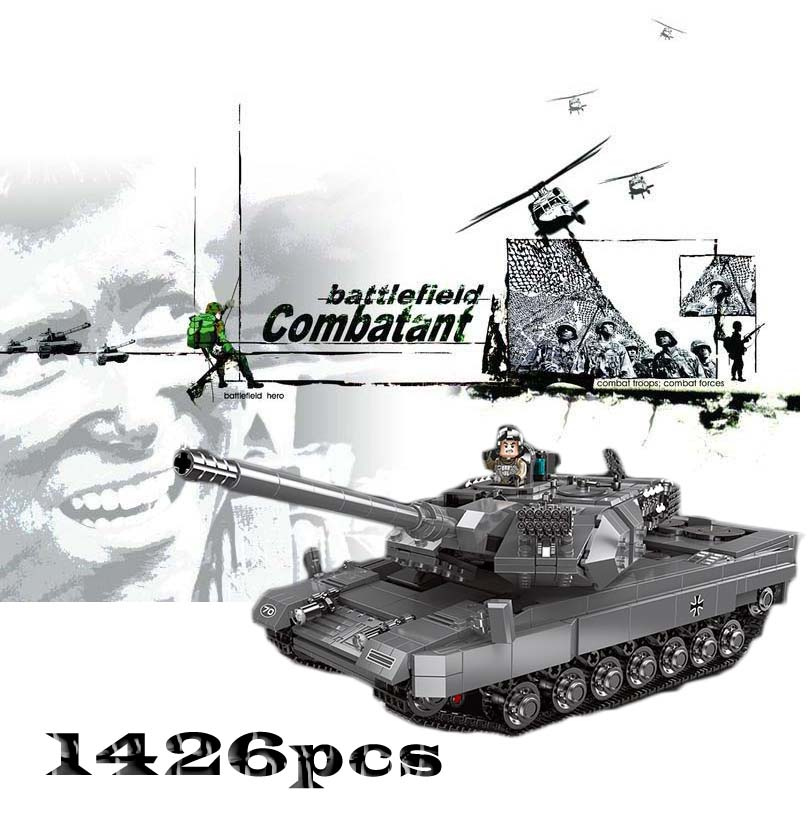 Model Building Ww2 Military Leopard2 Main Battle Tank Building Blocks Sets Models Educational Toys For Kids Gifts Compatible With Legoed