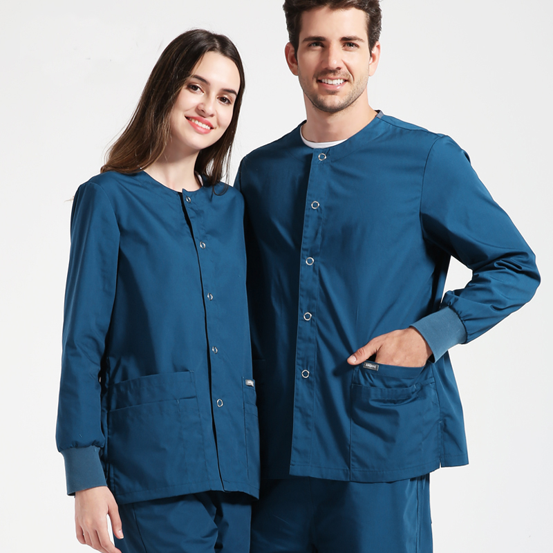 New Arrival Meidcal Uniforms Unisex Surgical Suits Doctors Nurses Jacket Long Sleeve Scrub Sets Hospital Outdoor Roving Clothes