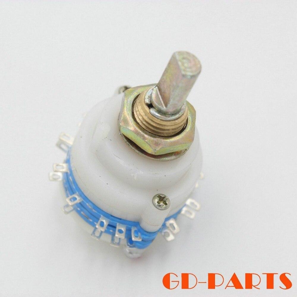 1 UNID 4 pole posición 6 Paso Atenuador Potenciómetro Rotary Switch Selector de