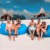 2016New! Tamaño grande Playa Al Aire Libre Portable Inflable Hueso Perezoso Sofá Muebles Hamaca Para Dormir Cama de Aire Que Acampa de Nylon Bolsa de Aire Sofá