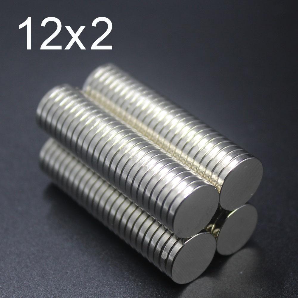10/15/20/50/100 Pcs Ímã De Neodímio 12x2 12mm x 2mm n35 Disco ímanes NdFeB Rodada Super Poderosa Forte Magnético Permanente 12x2