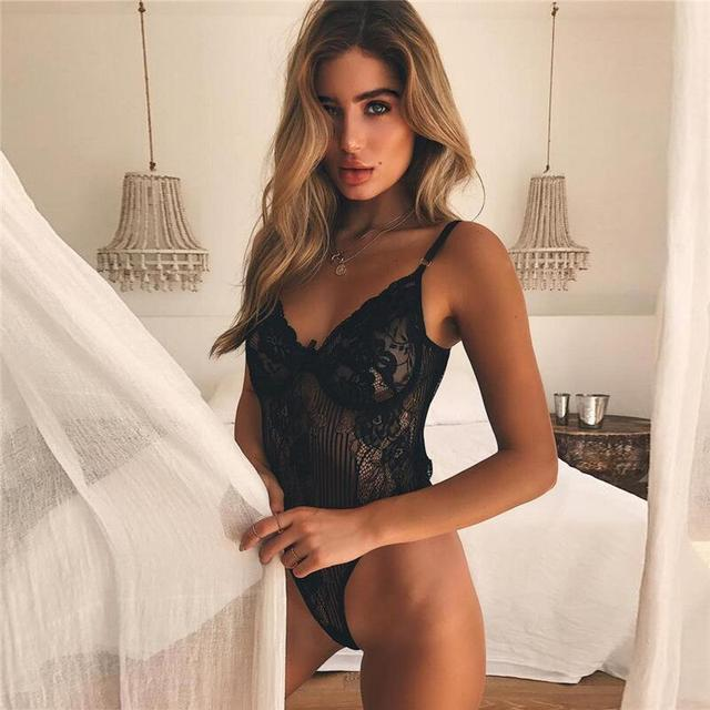 Sex Erotic Teddy Costumes Plus Size Lenceria Sexy Lingerie Women Perspective Lace Babydoll Erotic Lingerie Dress For Women S-3XL