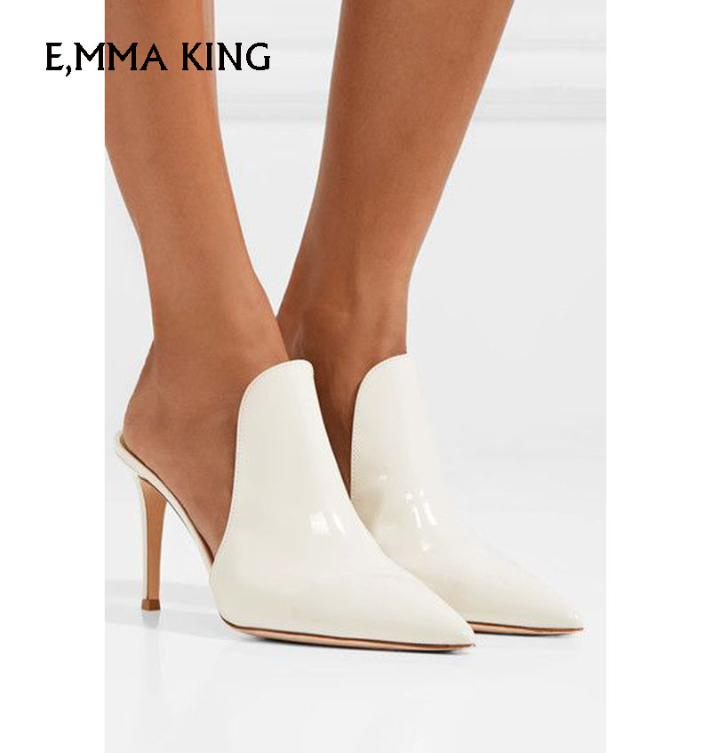 À 1 black Mode Sneakers Banquet 2 Mujer Pointu black Peu Bouche New White Talons Summer Hauts Feminino Sexysapato Stylet as Femmes Profonde De Zapatos Picture gzyyvqRZ