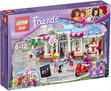 LEPIN 01002 Friends Series 439Pcs Cupcake Bakery Patisserie Takeaway Minifigures Building Block Compatible With Legoe 41119 Toys