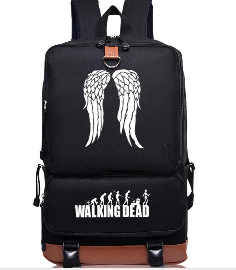 Walking Dead daryl Imprimer adolescents de paille chapeau Sac À Dos japonais uniforme Scolaire voyage Épaule Sac D'ordinateur Portable Sacs