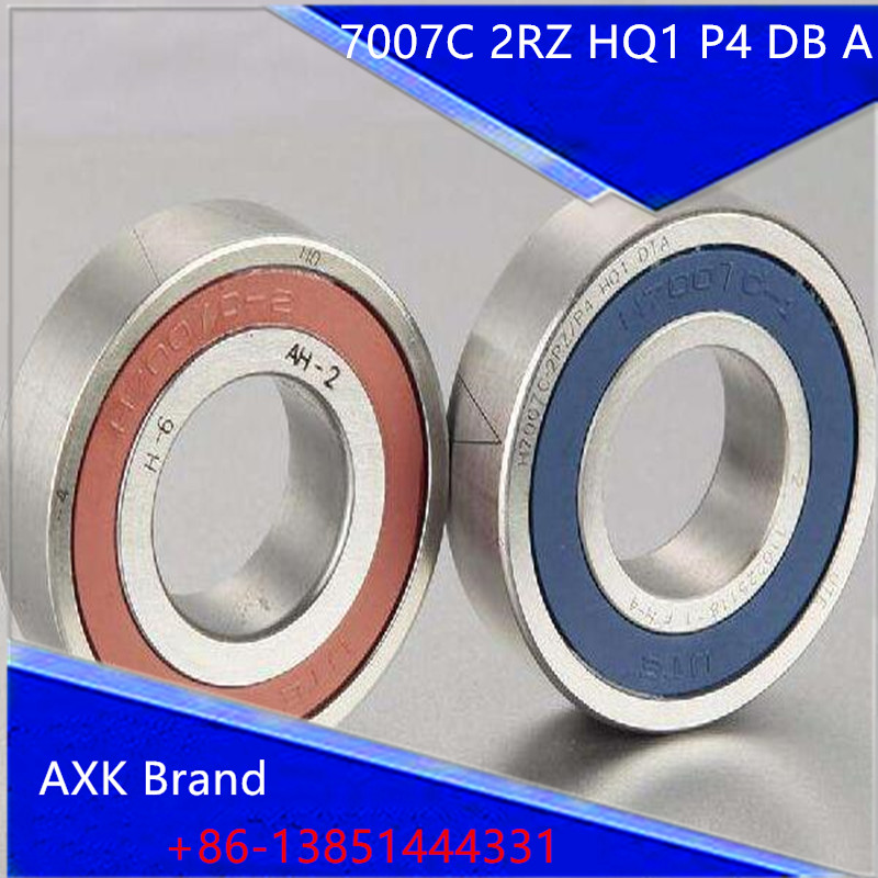 7007 7007C 2RZ HQ1 P4 DB A 35x62x14 *2 Sealed Angular Contact Bearings Speed Spindle Bearings CNC ABEC-7 SI3N4 Ceramic Ball 7007 7007c 2rz hq1 p4 dt a 35x62x14 2 sealed angular contact bearings speed spindle bearings cnc abec 7 si3n4 ceramic ball