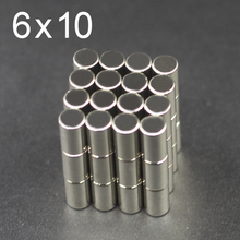 20/50/100/200Pcs 6x10 Neodymium Magnet N35 NdFeB Small Round Super Powerful Strong Permanent Magnetic imanes Disc