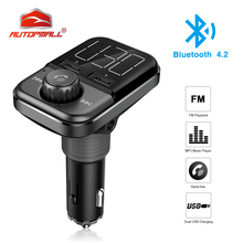 For Sale BT72 Wireless Bluetooth Car FM Transmitter AUTOPMALL Dual USB Radio Adapter FM Modulator TF Card Slot MP3 player Hand-free