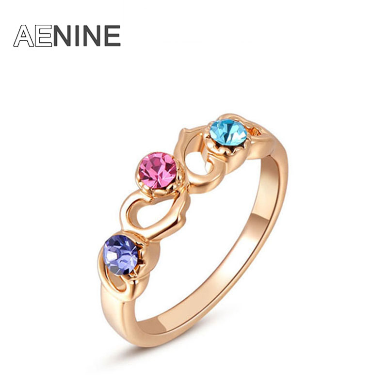 AENINE exquisite rose-golden...