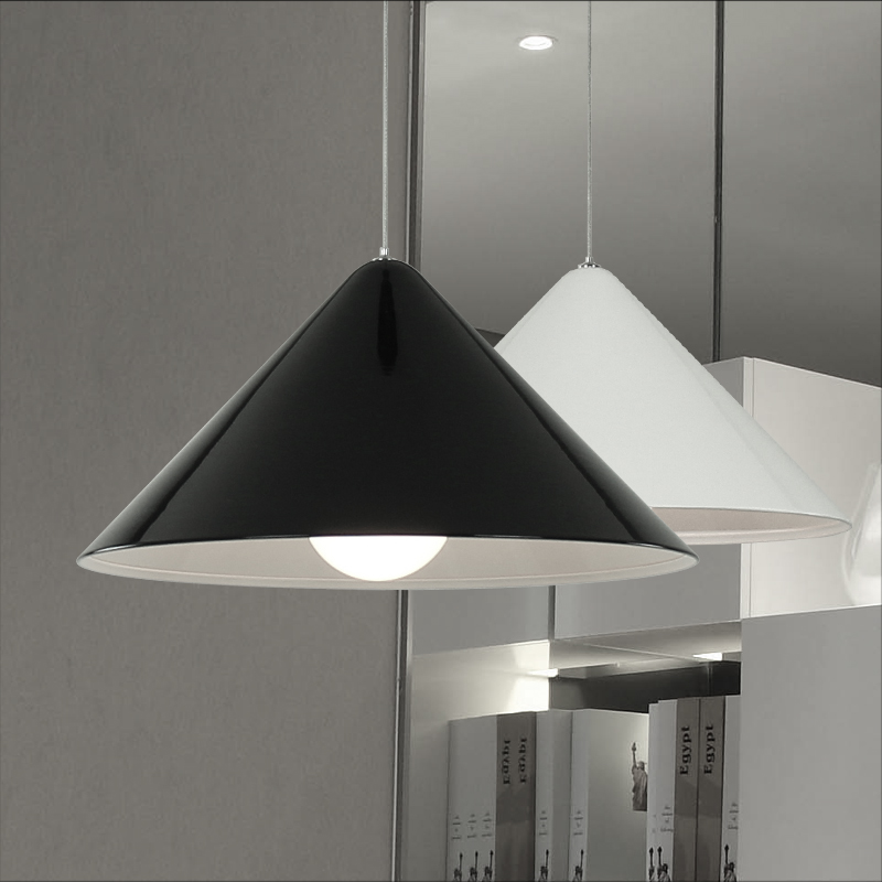 Nordic modern simple personality creative chandelier black and white single head bedroom bar study dining room lamps scene nordic creative bar minimalist dining room bedroom retro american single head wood japanese clothing store chandelier