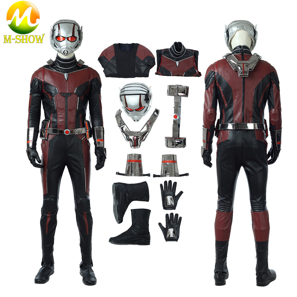 Ant-Man 2 Scott Lang Ant-Man Cosplay Costume and the Wasp Cosplay Antman costume Halloween Costumes Superhero jumpsuit Helmet