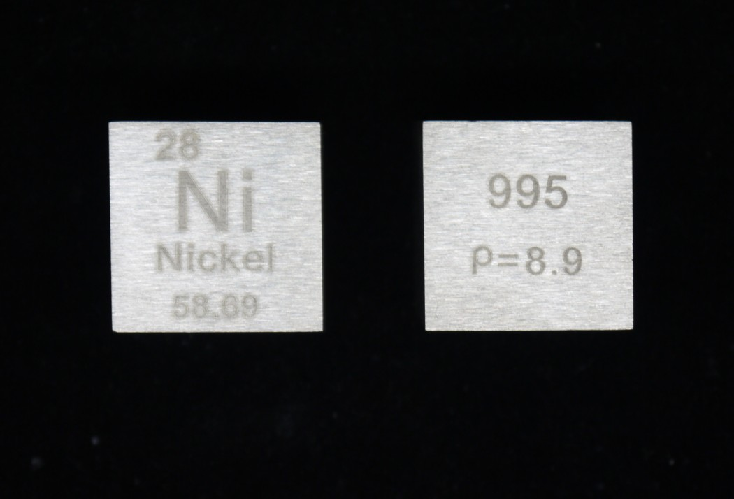 One inch cube nickel cycle phenotype weighs about 145 7g Ni 99 5