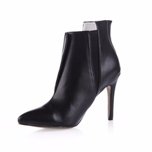 2019 Special Offer Real Rubber Sapatos Mulher Boots Fashion Patent Pointed Toe High Heel Ankle Sexy Shoes For 70887bt-g