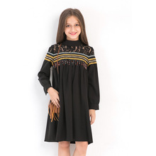 Girls Dresses With Sleeves Teenager size 14 Fall Dress Elegant Tassels Dress age 6 8 10 12 14 years Kids Autumn Winter Dress