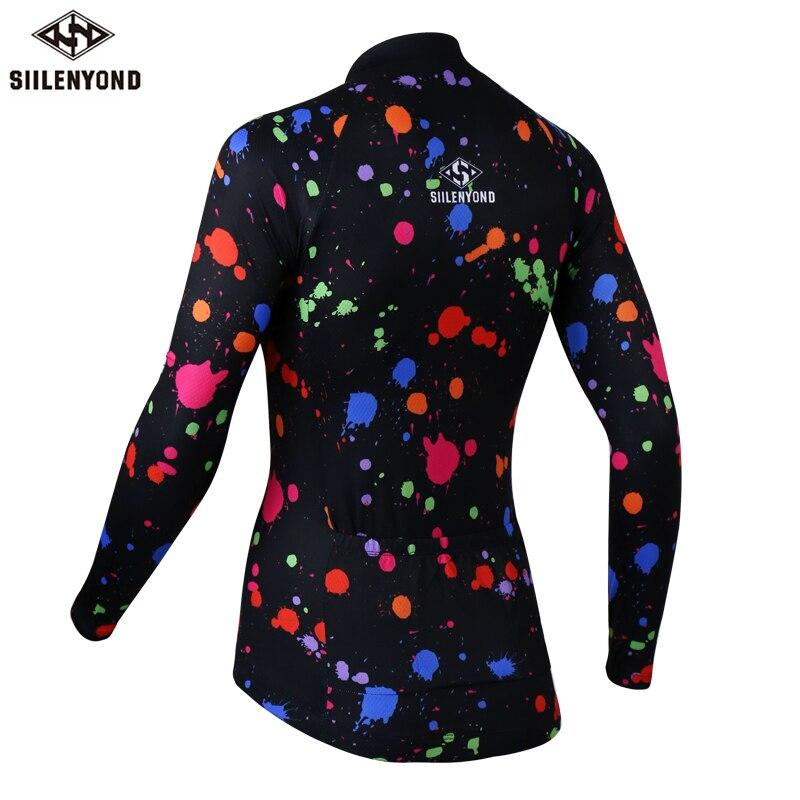 Siilenyond 2019 Pro Women Keep Warm Cycling Jersey Winter  Mountain Bike Cycling Clothing Racing Bicycle Cycling Clothes 2