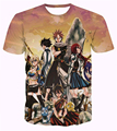 Classic Anime Fairy Tail printing t shirt Dragneel/Lucy Heartphilia/Erza Scarlet Characters 3D t shirt Unisex casual tee tops