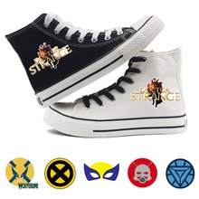 Marvel Film Hero Iron Man Ant-Man Doctor Strange Cartoon Print Casual Fashion Classic High Top Canvas Shoes Student A193291