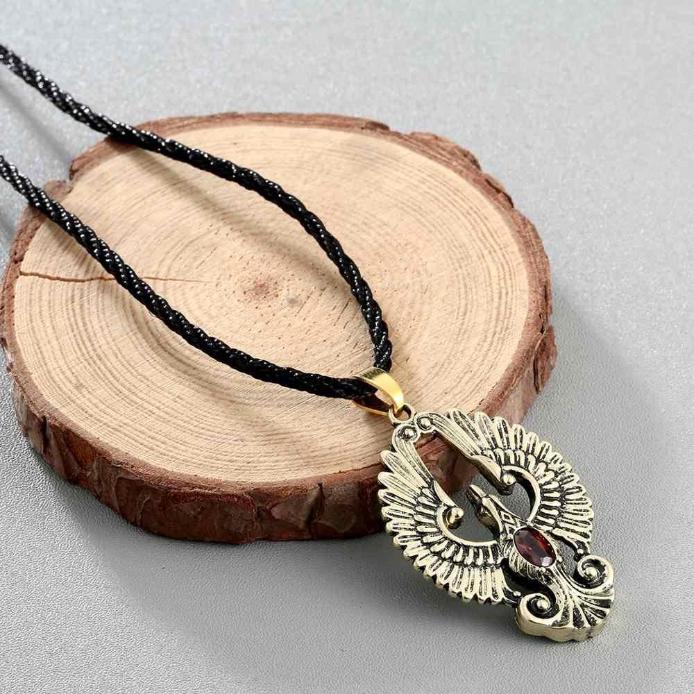 Chereda Phoenix wisiorek w kształcie ptaka dla mężczyzn piękne romantyczne zwierzęce męskie wisiorki unikatowe oświadczenie etniczne naszyjniki biżuteria
