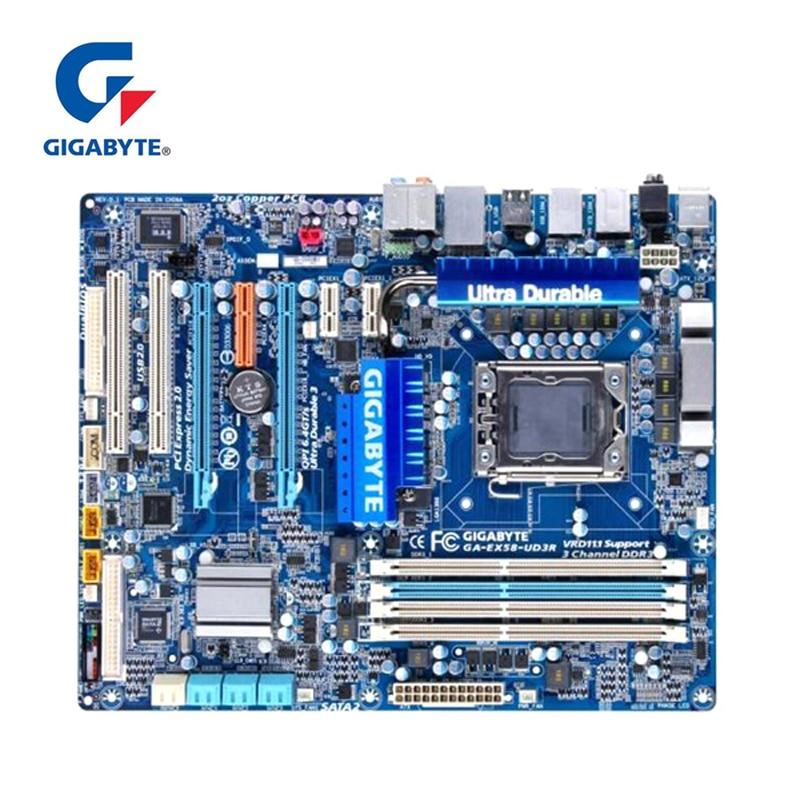 For Intel X58 Gigabyte GA-EX58-UD3R Motherboard DDR3 LGA 1366 USB3.0 24GB SATA III EX58-UD3R Desktop Mainboard 2x PCI-E X16 UsedFor Intel X58 Gigabyte GA-EX58-UD3R Motherboard DDR3 LGA 1366 USB3.0 24GB SATA III EX58-UD3R Desktop Mainboard 2x PCI-E X16 Used