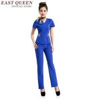 Work wear uniform for women spa uniform female nurses accessories for hospital DD021 C