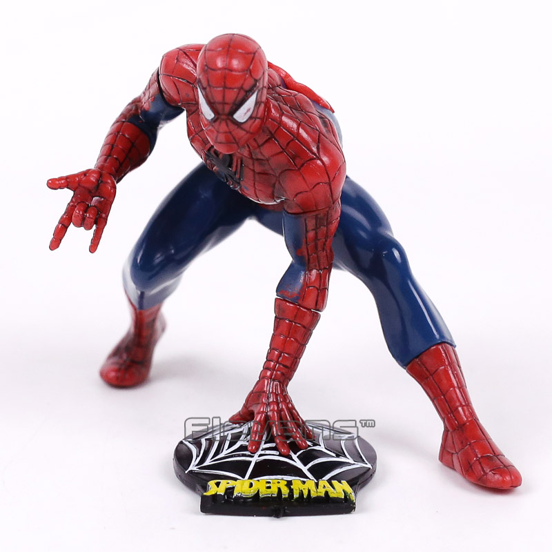 Spider-Man:Homecoming The Spiderman Mini PVC Figure Collectible Model Toy Car Decoration Doll 8cm the amazing spider man venom cletus kasady carnage pvc action figure toy spiderman villain venom collectible model toy gift n038