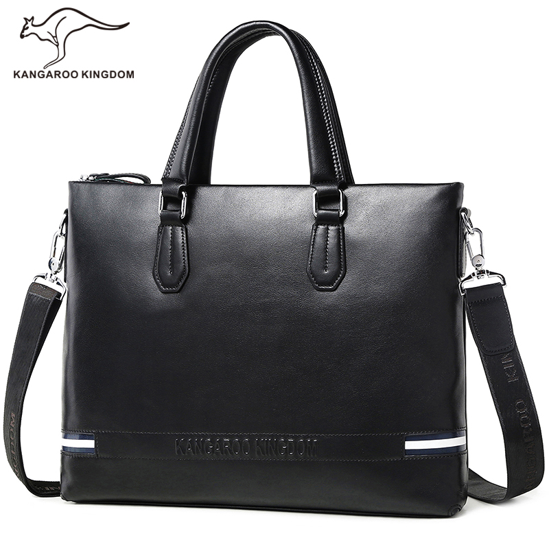 KANGAROO KINGDOM luxury genuine leather bag men handbag brand business men briefcase laptop bag handbags shoulder рогачев н ред решение задач по курсу общей физики