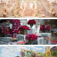Wedding Simulation Road Lead Flower Roman Column Flower Stand T Stage Decoration Festival Party Background Layout