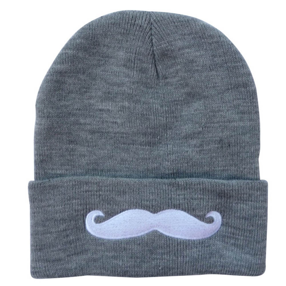 Detail Feedback Questions about Teenager Boys Spring Winter Hat Cute  Mustache Soft Warm Hedging Cap Elastic Unisex Gorros Leisure Knitted Letter  Hats on ... 65a133002d41