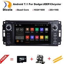 """HD 6.2 """"2G RAM Android 7.11 COCHES reproductor de DVD PARA JEEP Concorde/Dakota/Durango/Interpid audio del coche estéreo Multimedia unidad Principal de los GPS"""