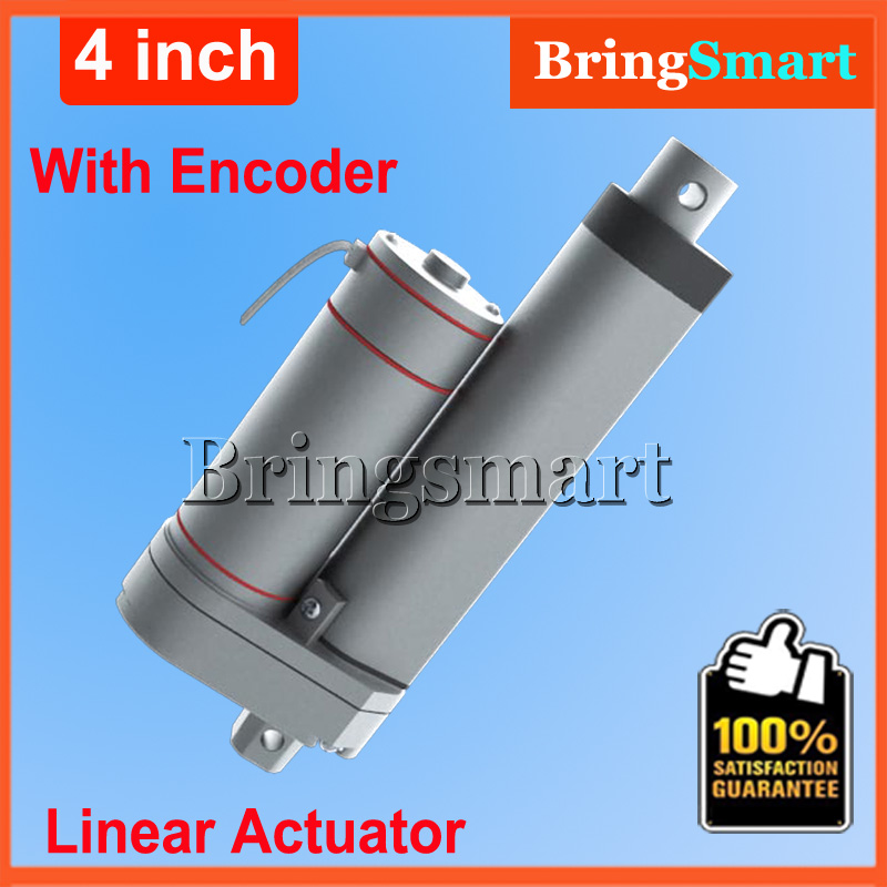 Hot L-TGA-Y 12V 100mm mini electric linear actuator with Encoder 900N 90KG load 24v Tubular Motor 4 inch Stroke Free shipping wholesale 12v linear actuator 150mm 6 inch stroke 7000n 700kg load waterproof 36v tubular motor 48v mini electric actuator 24v