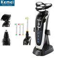 KEMEI 5181 Washable 4 Heads Electric Razor Rechargeable Electric Shaver four Blade Shaving Razors Men Face Care 4D Floating