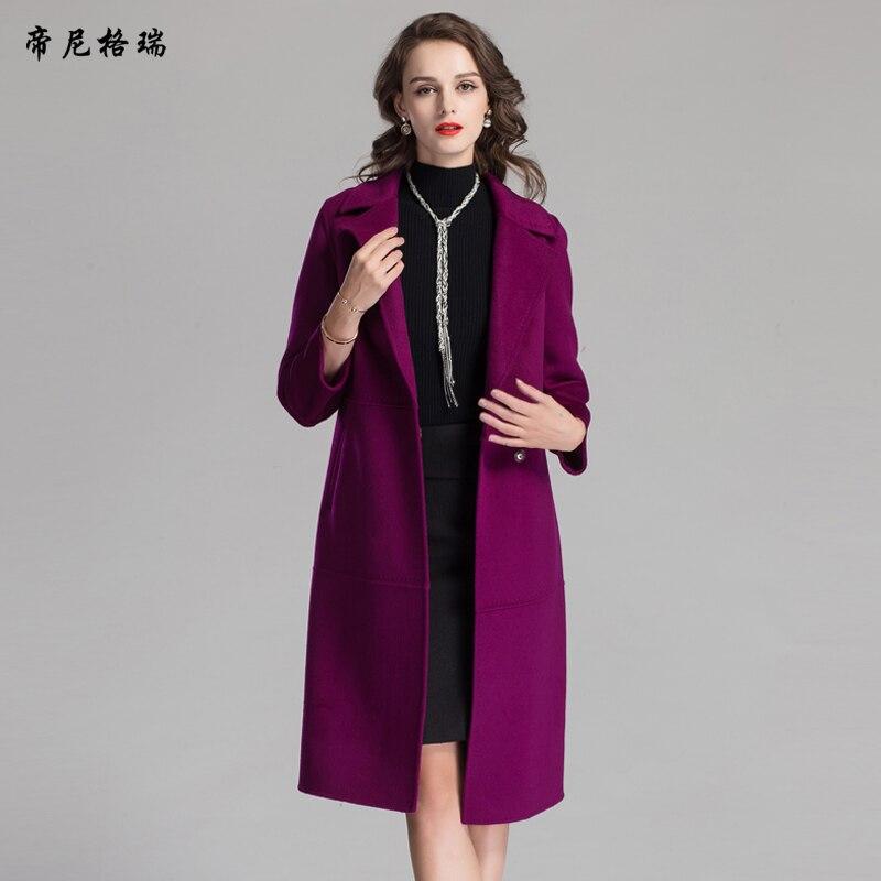 Manteau laine femme long